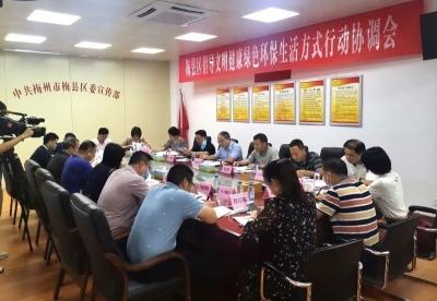 梅县区召开倡导文明健康绿色环保生活方式行动协调会