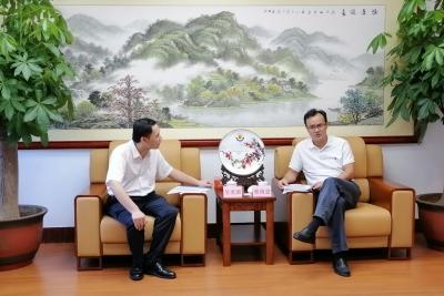 曾尚忠会见中国信保广东分公司纪委书记吴奕湖