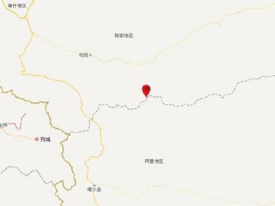 今晨新疆于田1小时内地震多次,最高6.4级