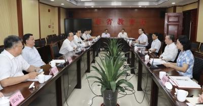 陈敏张爱军到省教育厅联系工作:加强沟通用足政策 共推教育振兴发展