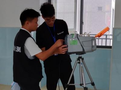 你关注的!梅州实验小学进行室内空气污染检测!学校今秋投入使用