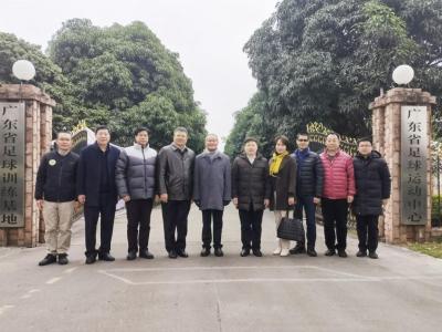 嘉应学院到广东省足协共商足球产业合作发展