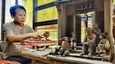 一个个泥塑,一段段客家故事…他,是梅州市级非遗项目客家泥塑传承人刘沅声