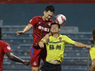 中甲第22轮3:1逆转苏州东吴,梅州客家豪取6连胜!